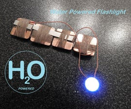 Water Powered Flashlight - micro MEDELIS BATTERY