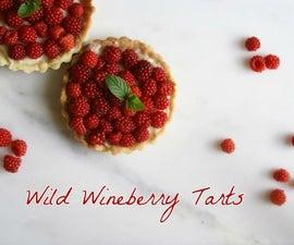Wild Wineberry Tartlets