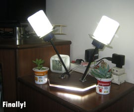 LED Night Lamp/Table Lamp Using Old Bottle