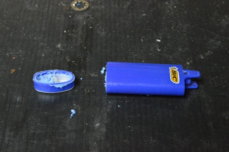 Moding the Lighter - Removing the Excess Plastic