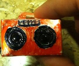 Mini boombox from headphones