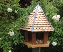 Hexagonal Bird Table from Recycled Wood