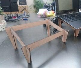 Laser Cut Laptop Stand