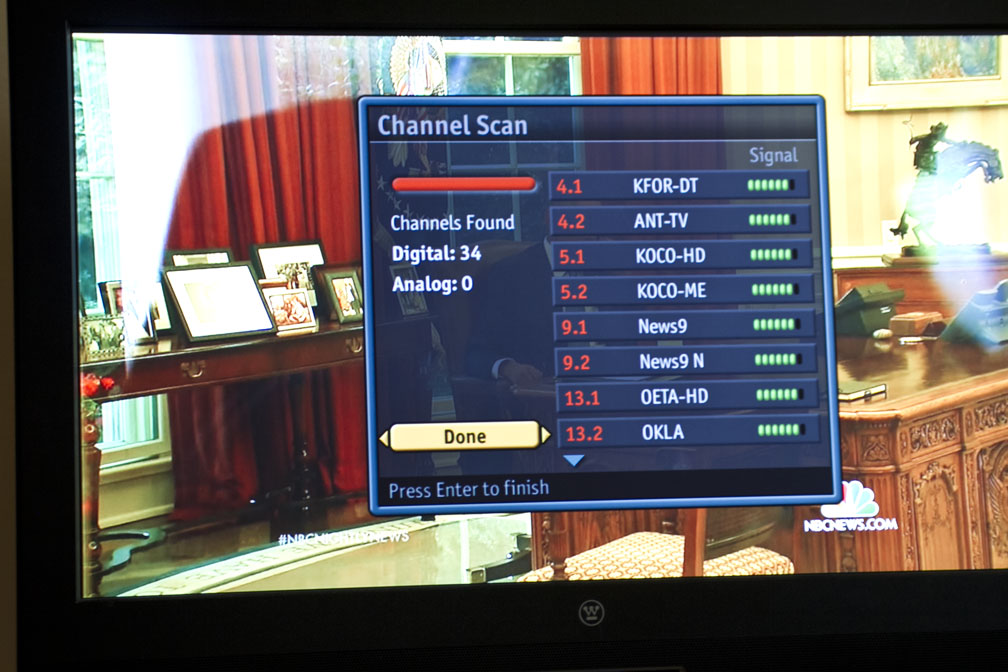 Picture of Scan for Channels