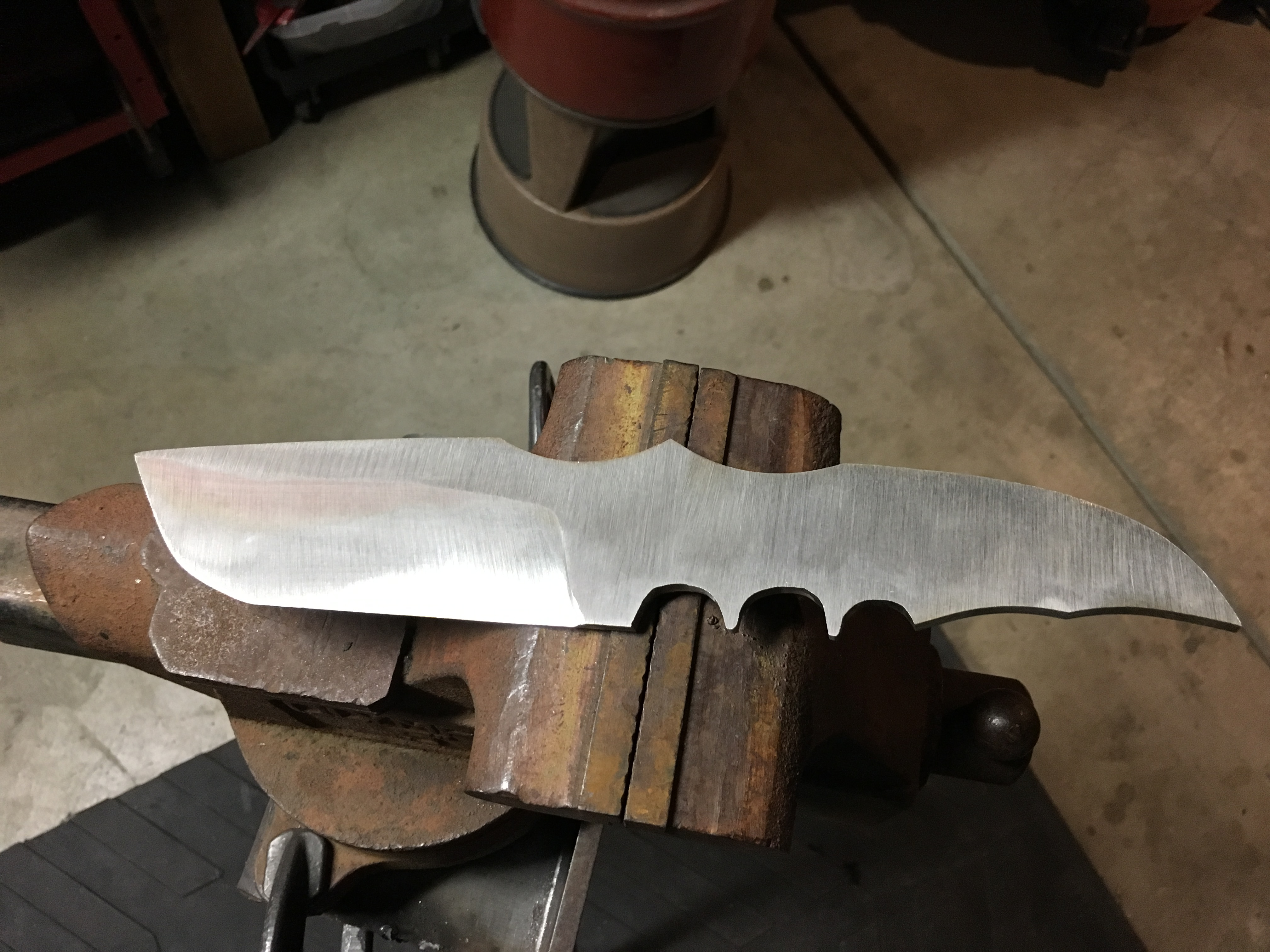 Picture of Grinding the Blade Profile