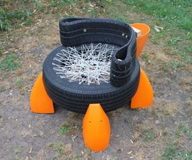 Upcycled Tyre Chair