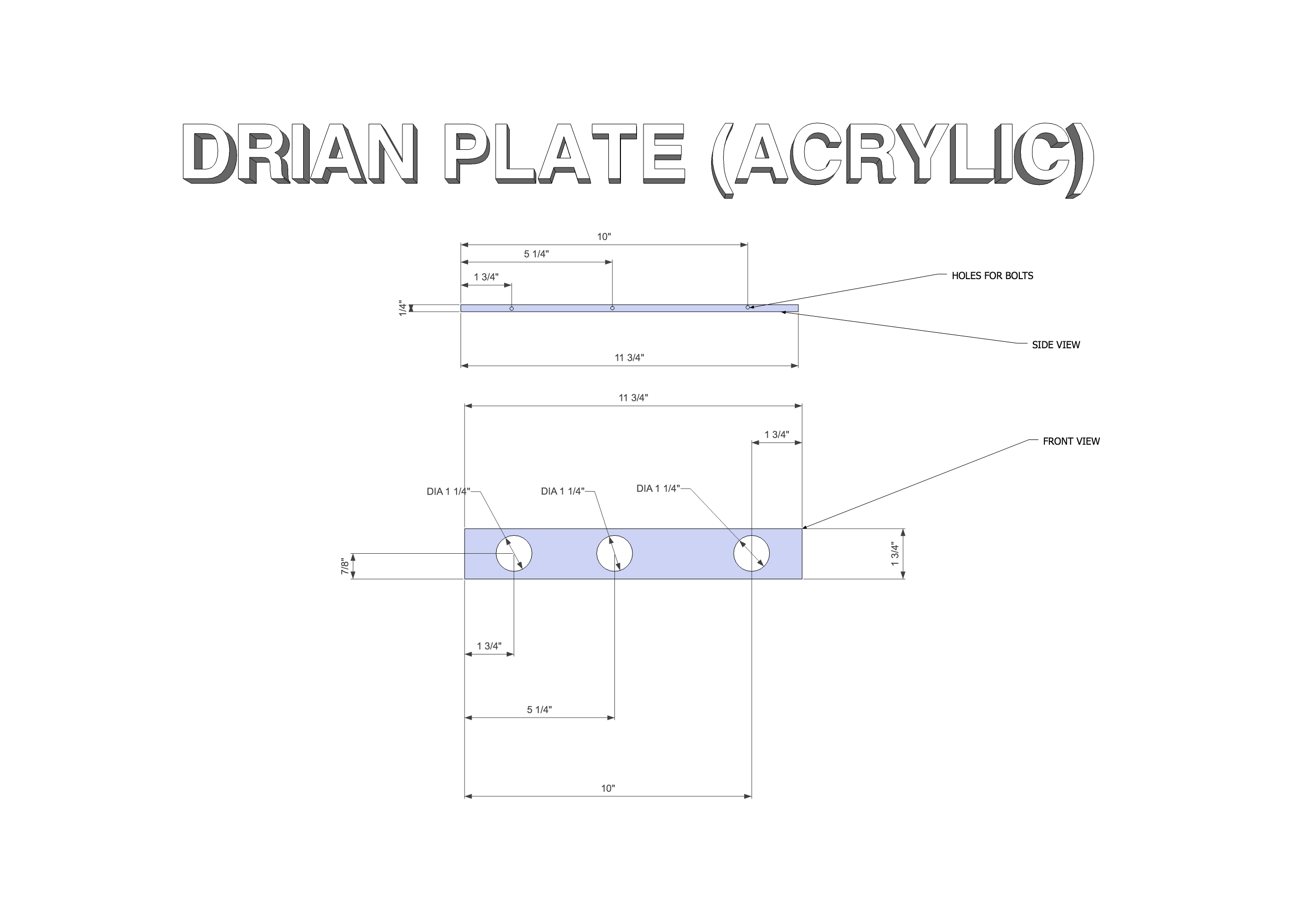 Picture of Drain Plate