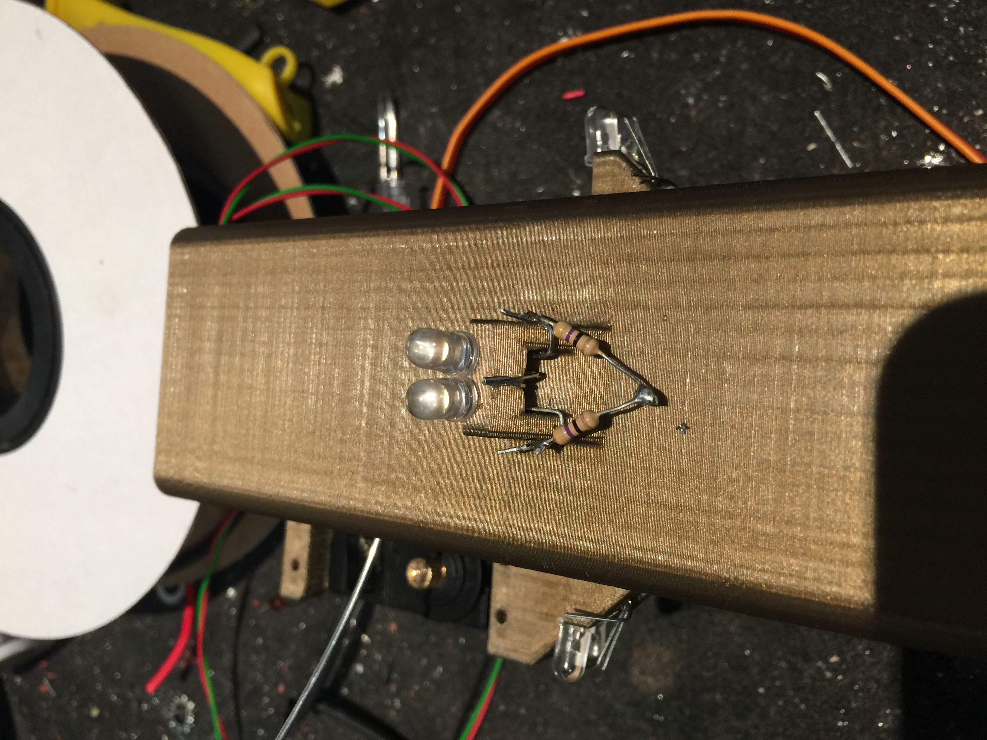 Picture of Add Annode Resistors, Repeate 3 More Times (for Each Side)