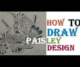 How to Draw Paisley Zentangle Design Video Tutorial