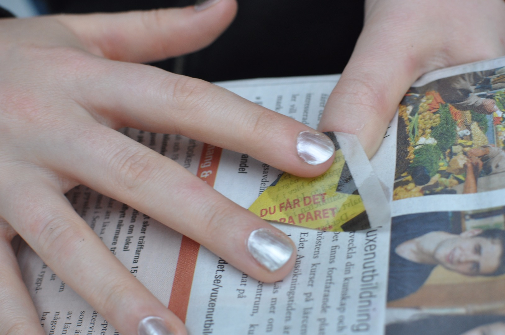Picture of Soaking and Placing the Papers on Your Nails