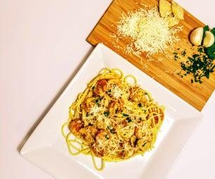 Creamy Garlic and Herb Gluten Free Shrimp Pasta