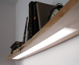 Floating Shelf W/ Hidden LED Lighting