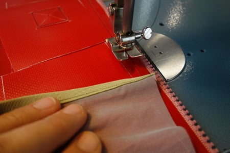 Upper Side Pouches: Sewing Down