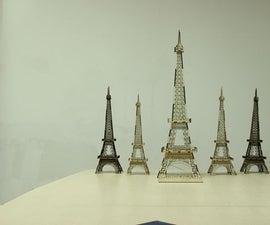 Laser Wood Model Cutting –Eiffel Tower