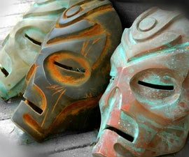 Cold Metal Casting and Patina on Skyrim Dragon Priest Masks