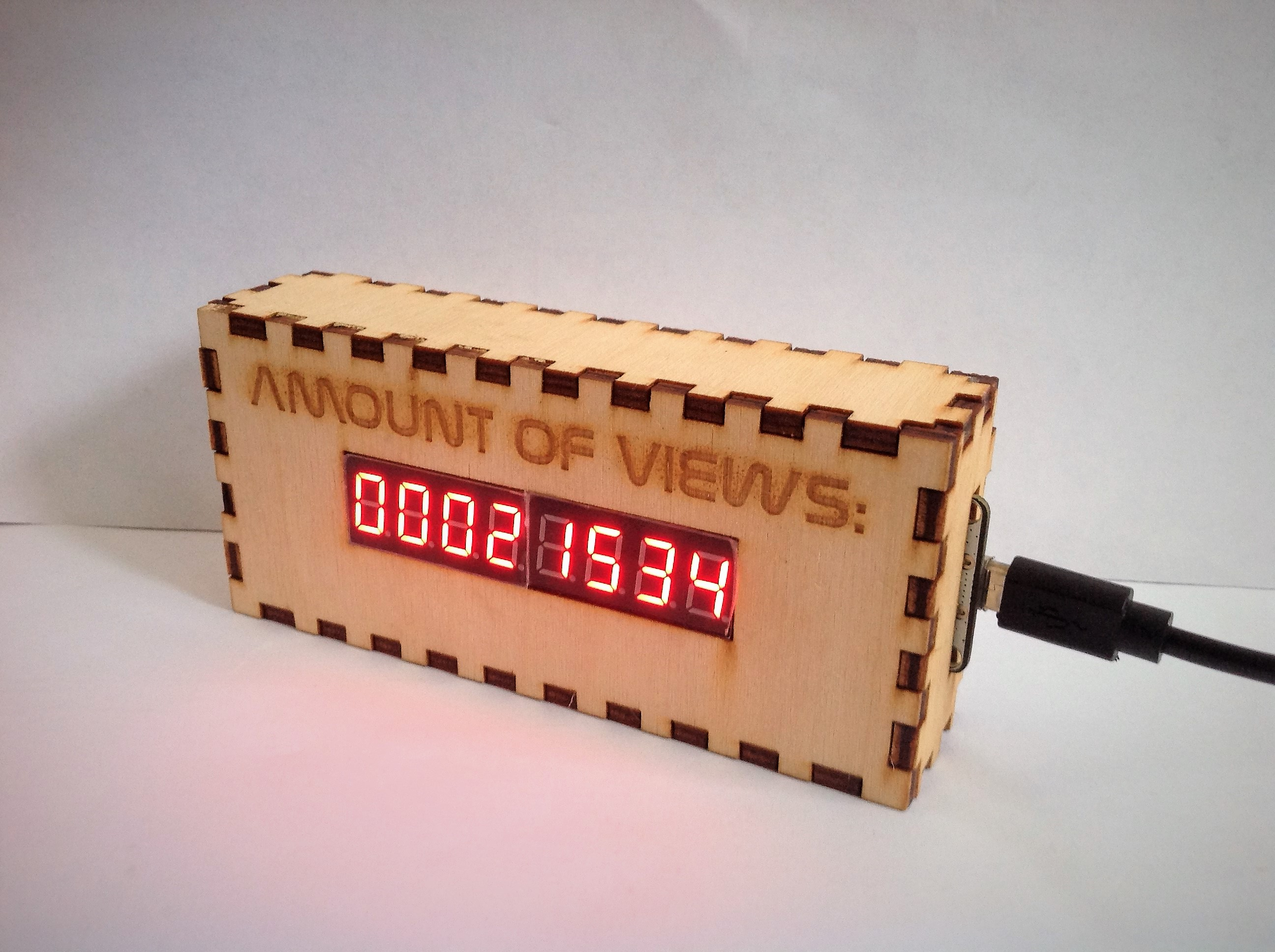 Picture of ESP-8266 Live Instructable View Counter