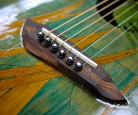 CNC machined guitar bridge - made at Techshop