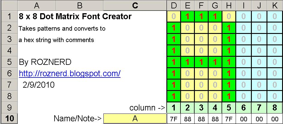 Picture of Input Letters or Patterns