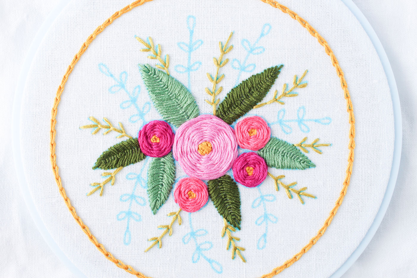 Open Fly Stitch (for Vines)