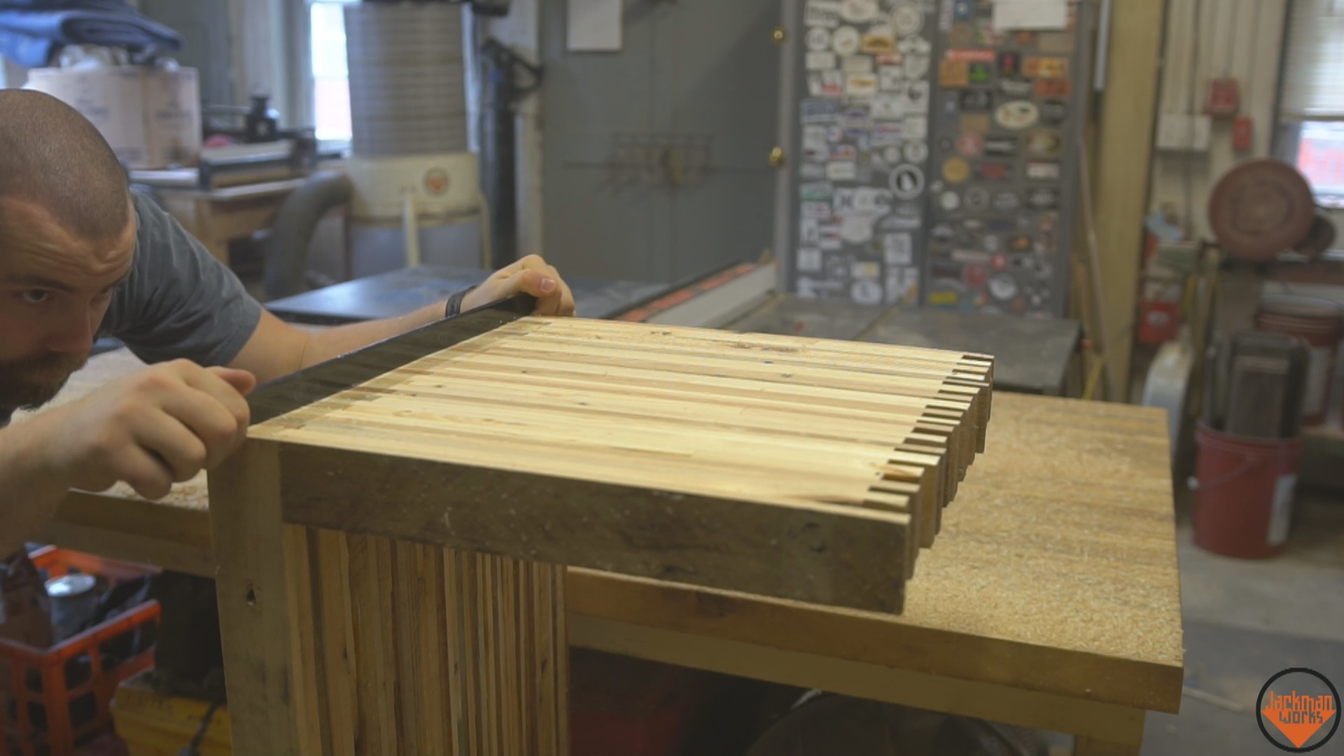 Picture of Flattening & Cutting Sides to Length