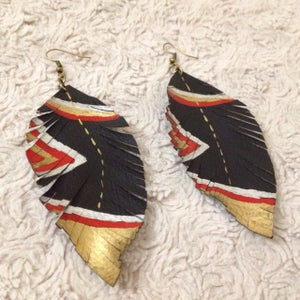 Making of Leather Feather Earring