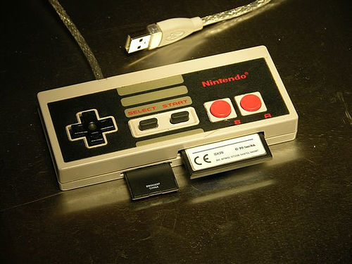 Picture of Nintendo Controller Into a PC Card Reader
