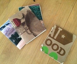 Simple Bound Journal With Recycled Materials