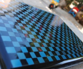 Painting a checkearboard.