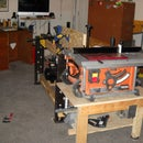 Work-frame from a kitchen table frame - the workbench built around what's NOT there!