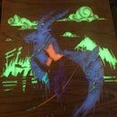 Multi-Colored Glow Resin Engraving With a CNC
