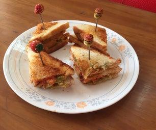 Mint Mayo and Chicken Tikka Tea Sandwich