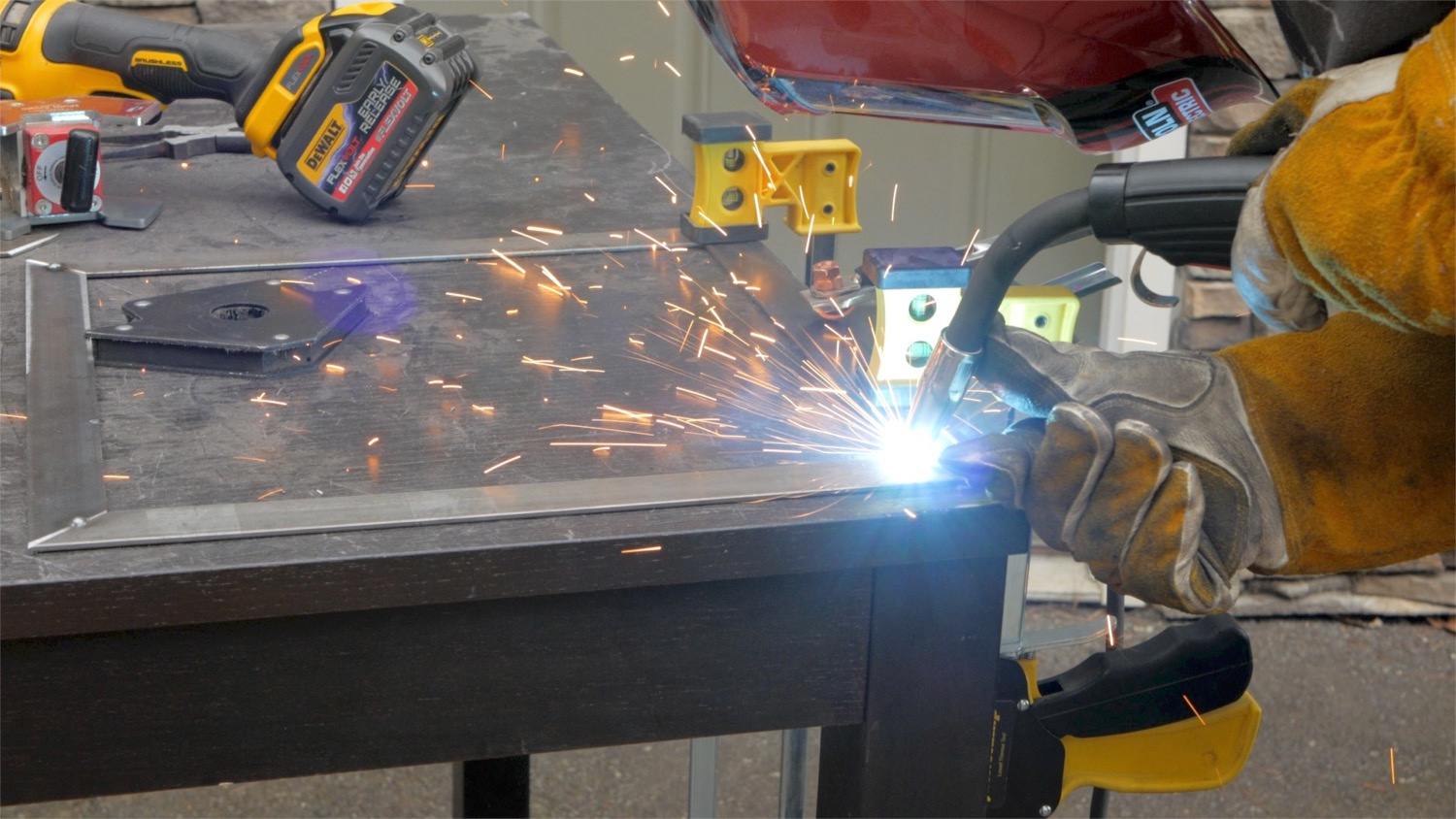 Picture of Cut and Weld Frame Portion of the Table Base