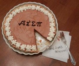 √-1 2^3 ∑ π and it was delicious! (I ate some pie and it was delicious!)