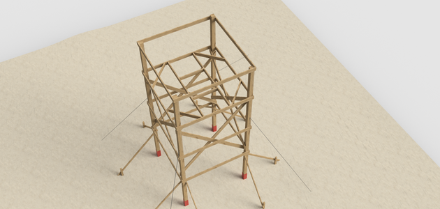 Construct Floor Support Struts