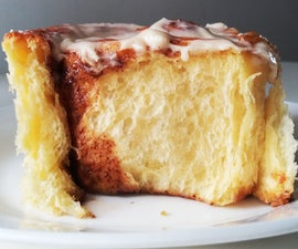 Extra Fluffy Brioche Cinnamon Roll (Cooking With Children Edition)
