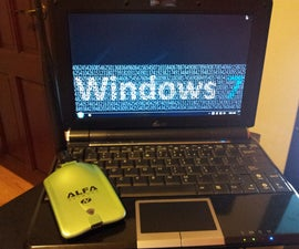 How to attach an Alfa AWUS036NH to a Netbook