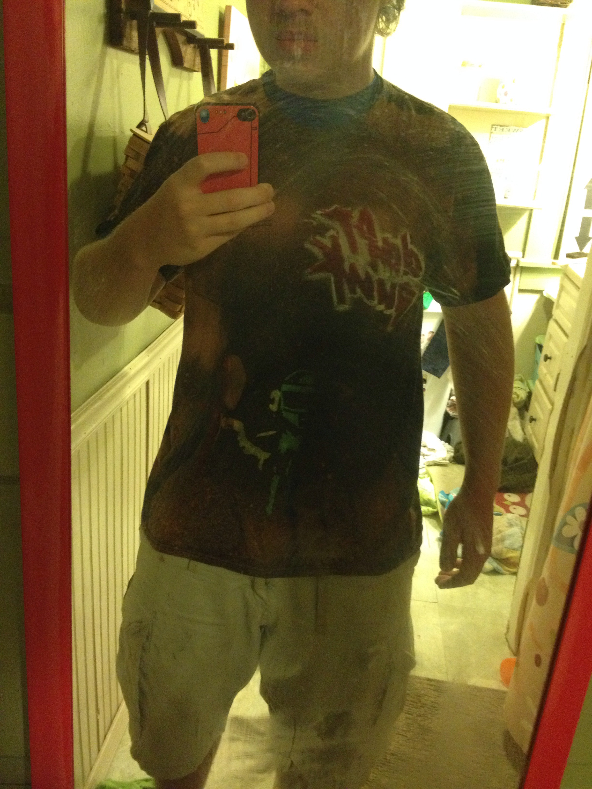 Picture of Bleach Dyed and Painted Tee Shirts
