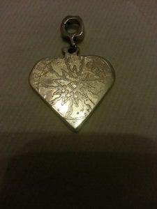 Silver Heart  Naclace