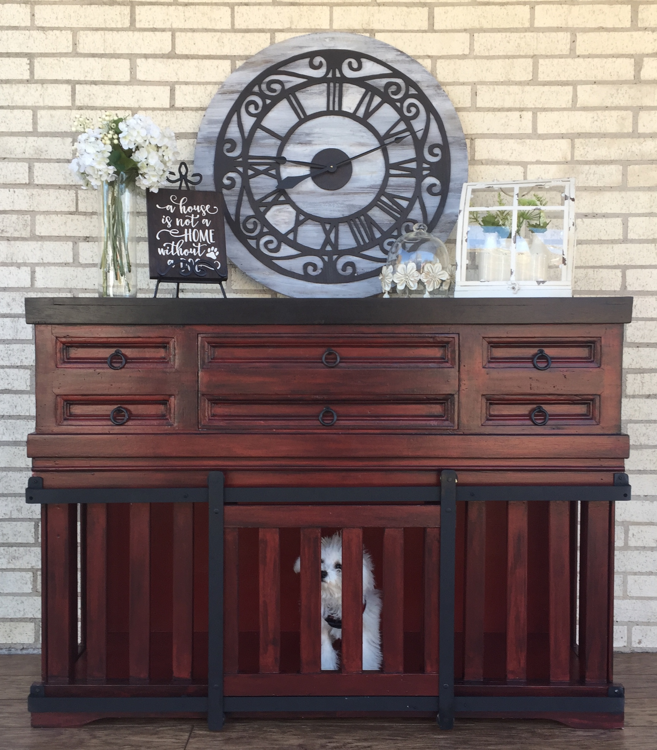 Picture of Dog Kennel Console Table (Reclaimed Materials)