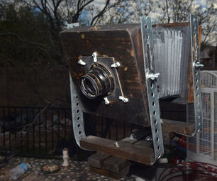 Low Cost Adjustable Rail 4x5 View Camera