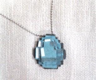 Minecraft Diamond Necklace