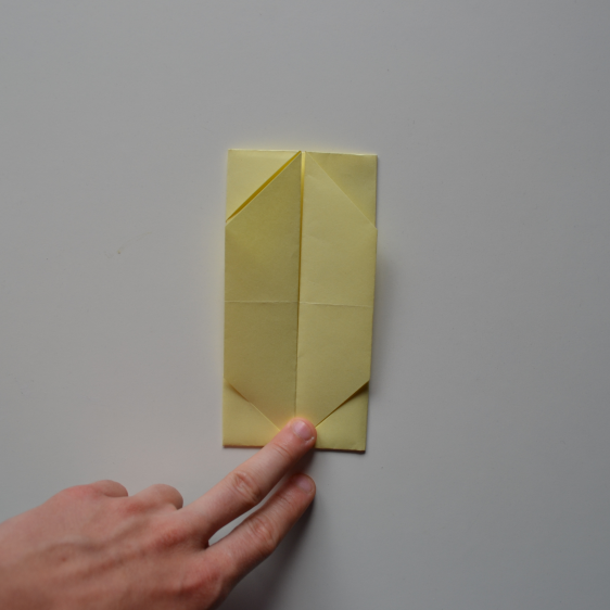 Picture of Fold the Right and Left Edges to the Middle.