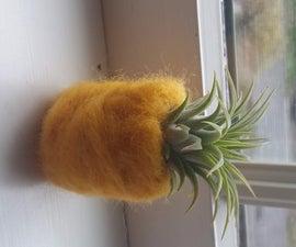 Felted Pineapple Air Plant Holder