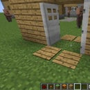 Minecraft How to make a working double door