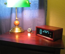 Custom digital clock from wood and Jeep VIC