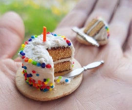 Miniature Polymer Birthday Cake