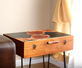 Resin & Wood - the Gentleman's End Table