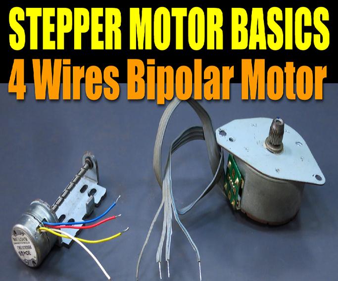 Stepper Motor Basics - 4 Wires Bipolar Motor