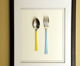 Colored Silverware - Framed Kitchen Art
