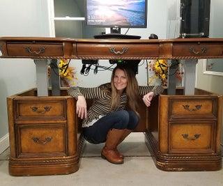 Converting an Executive Desk Into a Standing Desk